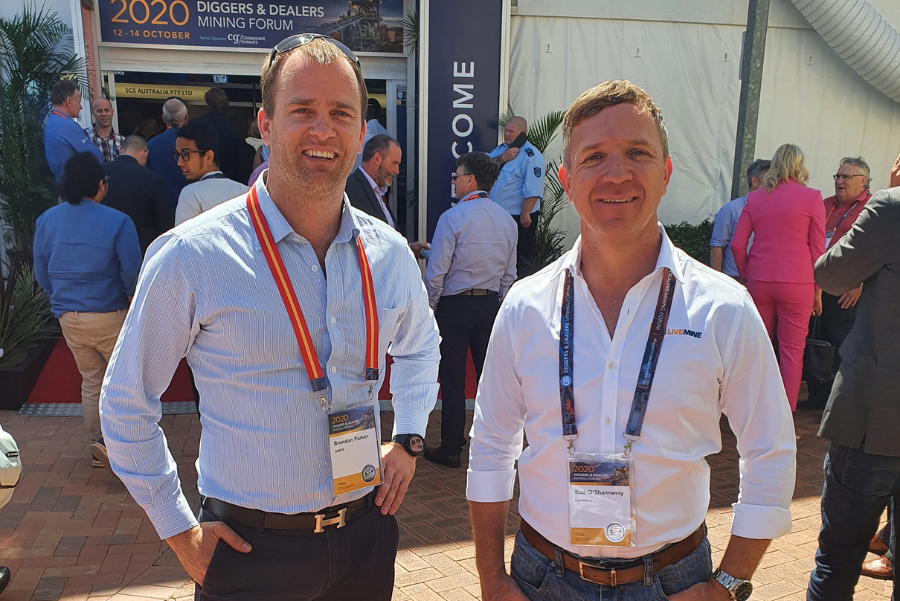 Brendan and Bud at Diggers and Dealers Conference