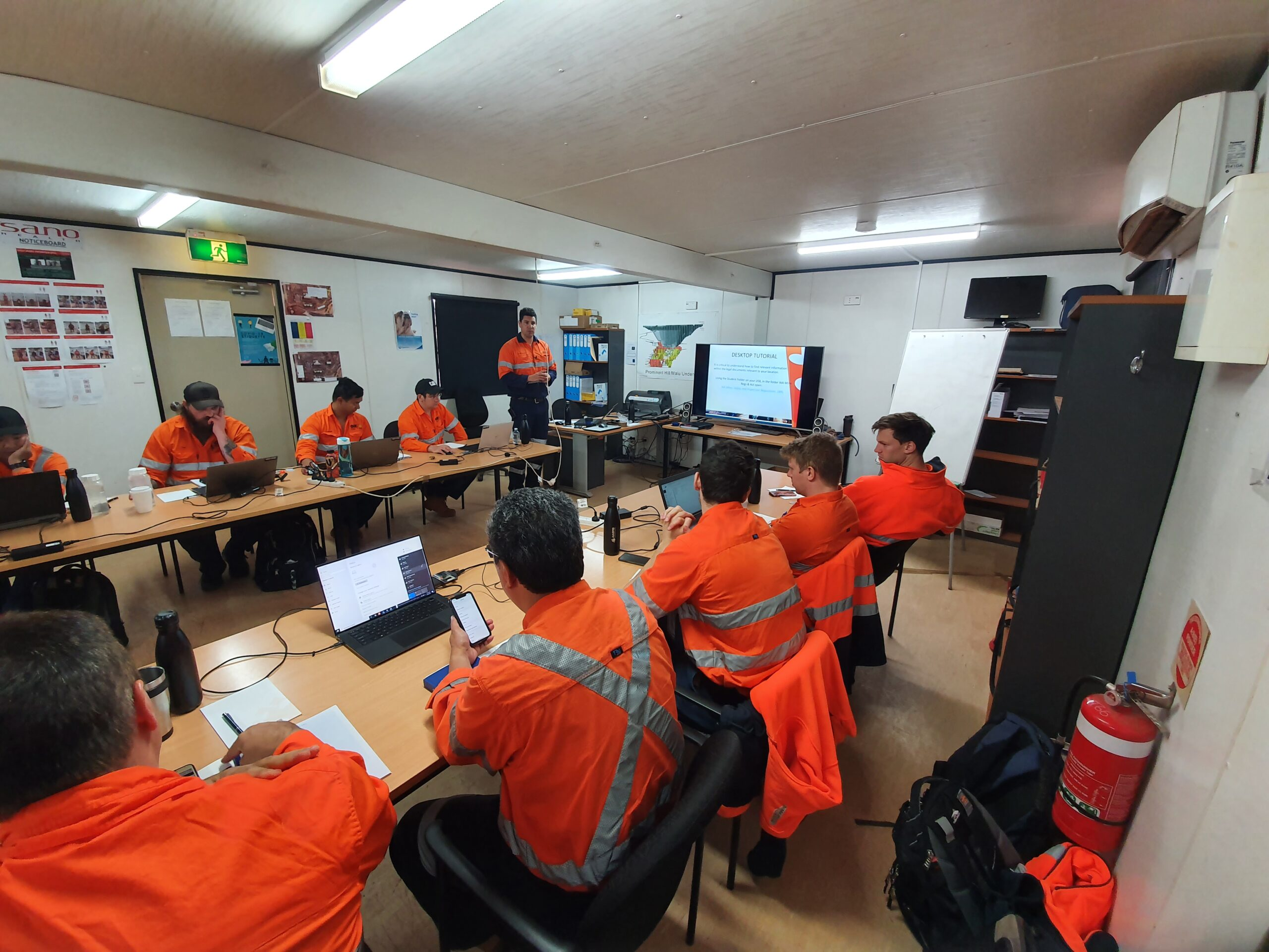 AMPS onsite drill & blast training course