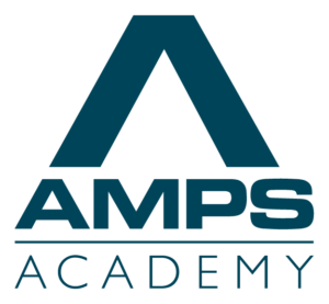 AMPS Academy logo blue
